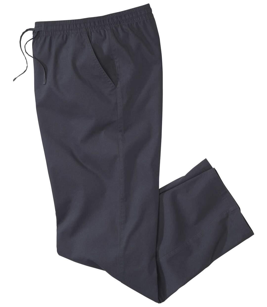 Men's Dark Blue Comfortable Microcanvas Trousers