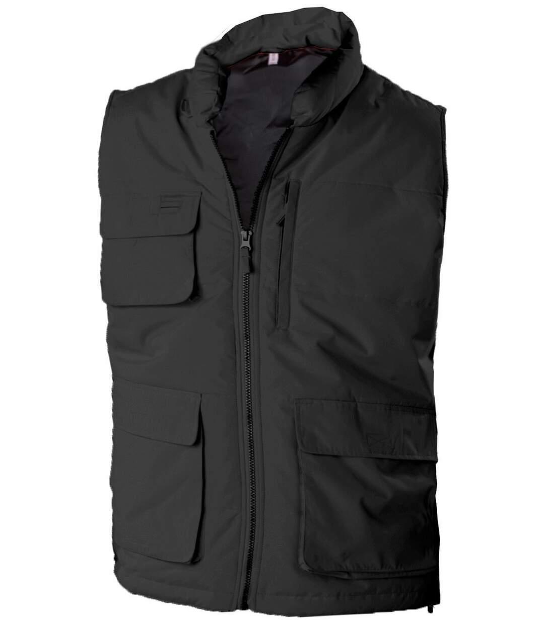 Veste sans manches bodywarmer matelassé - K615 - gris foncé
