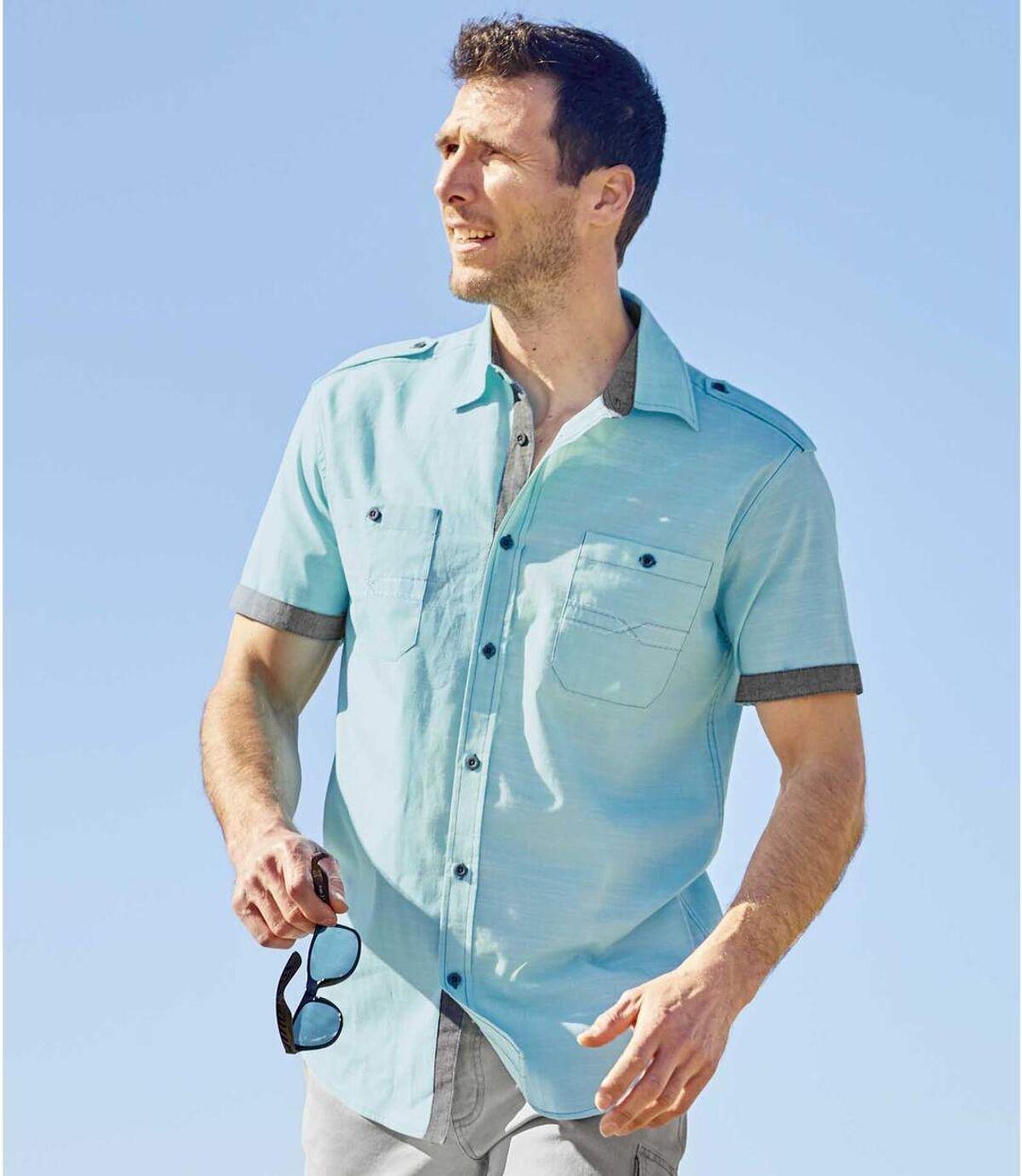 Košile zžíhaného popelínu Atlas For Men