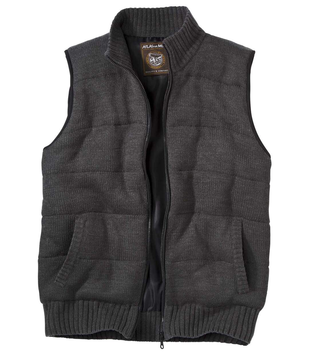 Men's Padded Grey Bodywarmer