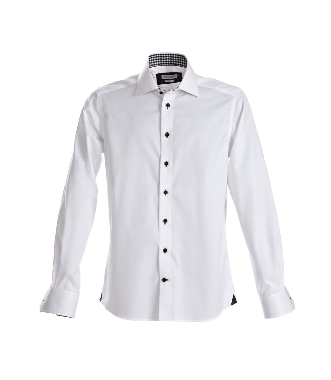 J Harvest & Frost Mens Red Bow Collection Regular Fit Formal Shirt (White/ Navy) - UTRW3871