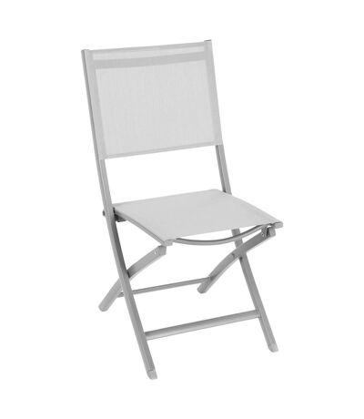 Chaise de jardin pliante Essentia - Gris galet et silver