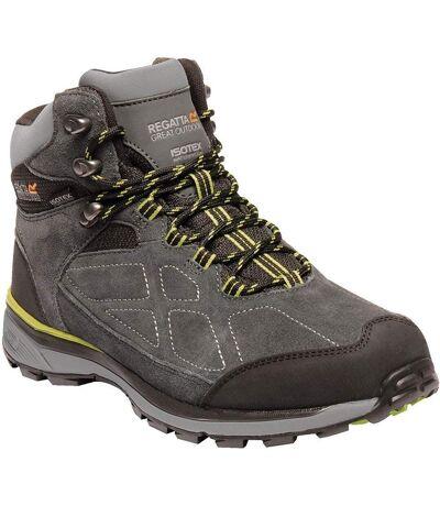 Regatta Mens Samaris Suede Hiking Boots (Briar/Lime Green) - UTRG3661