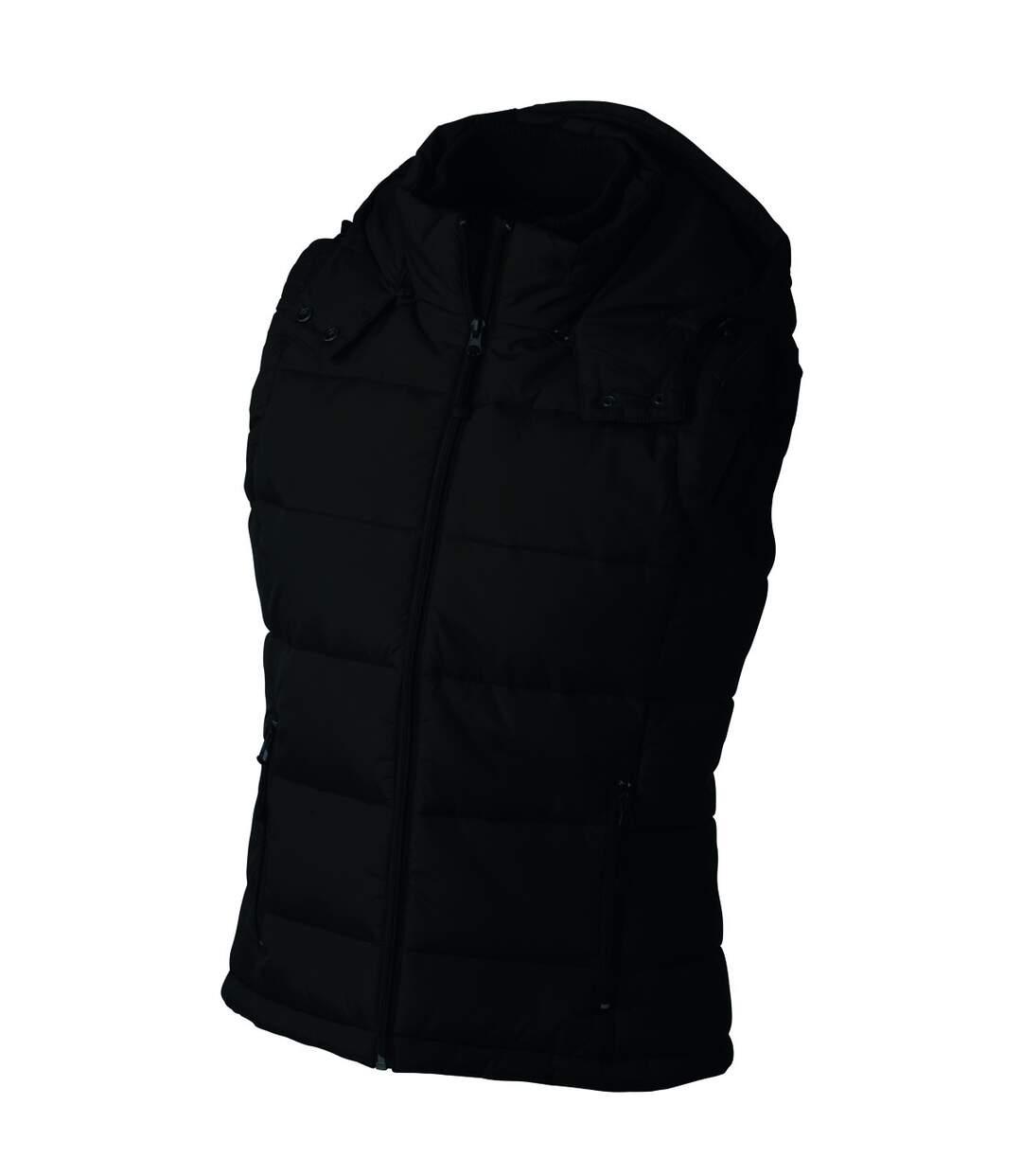 Doudoune femme sans manches capuche amovible - JN1005 - noir