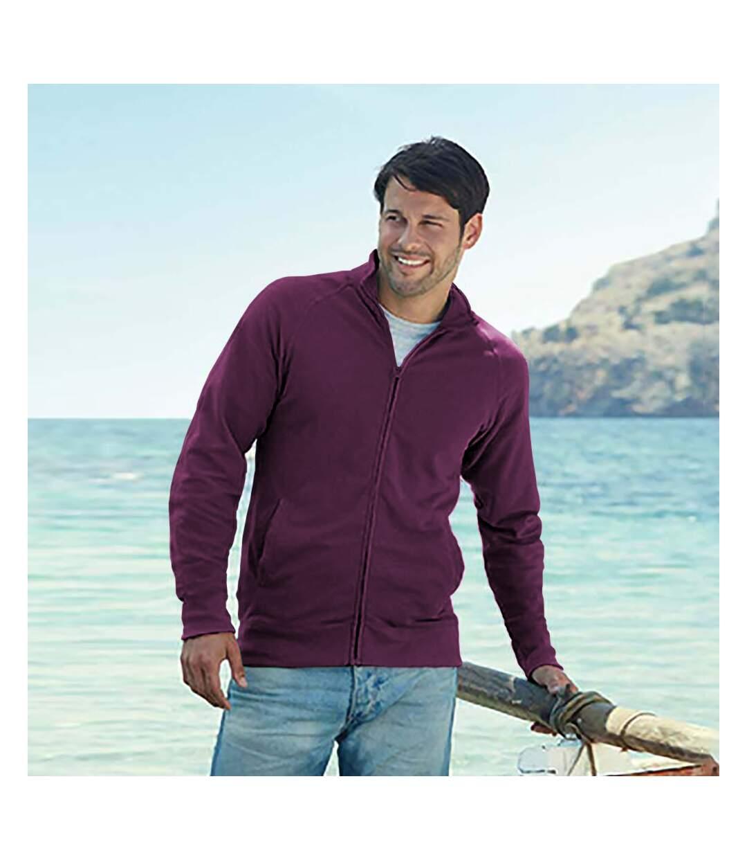 Fruit Of The Loom Mens Lightweight Full Zip Sweatshirt Jacket (Burgundy) - UTRW4500