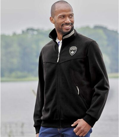 Men's Black Full Zip Fleece Jacket