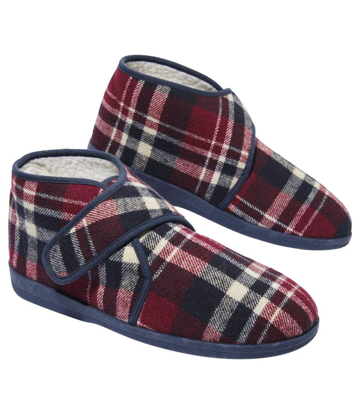 Zateplené pánske kockované papuče Atlas For Men