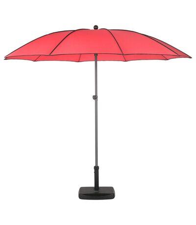Parasol droit rond Bogota - Inclinable - Diam. 250 cm - Rouge coquelicot