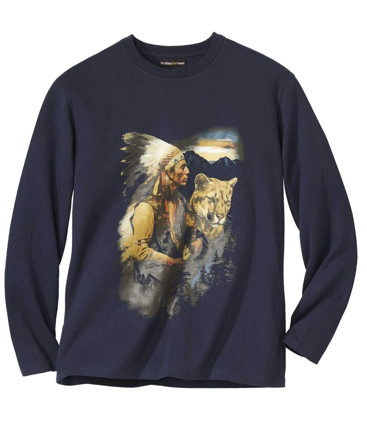 T-shirt z nadrukiem indian Atlas For Men