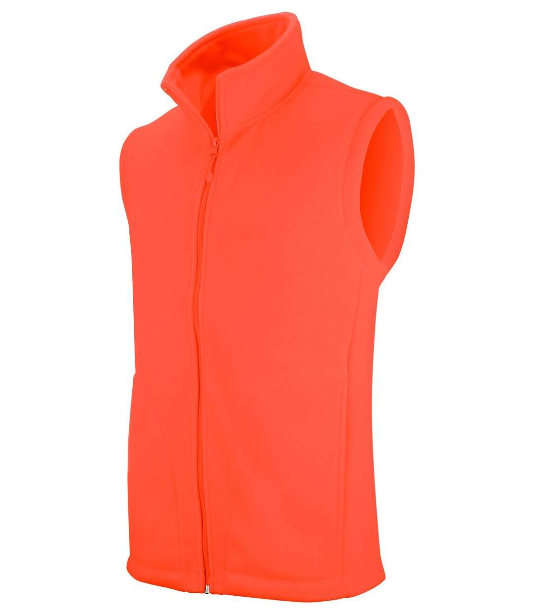 Gilet sans manches micro polaire homme - K913 - orange fluo