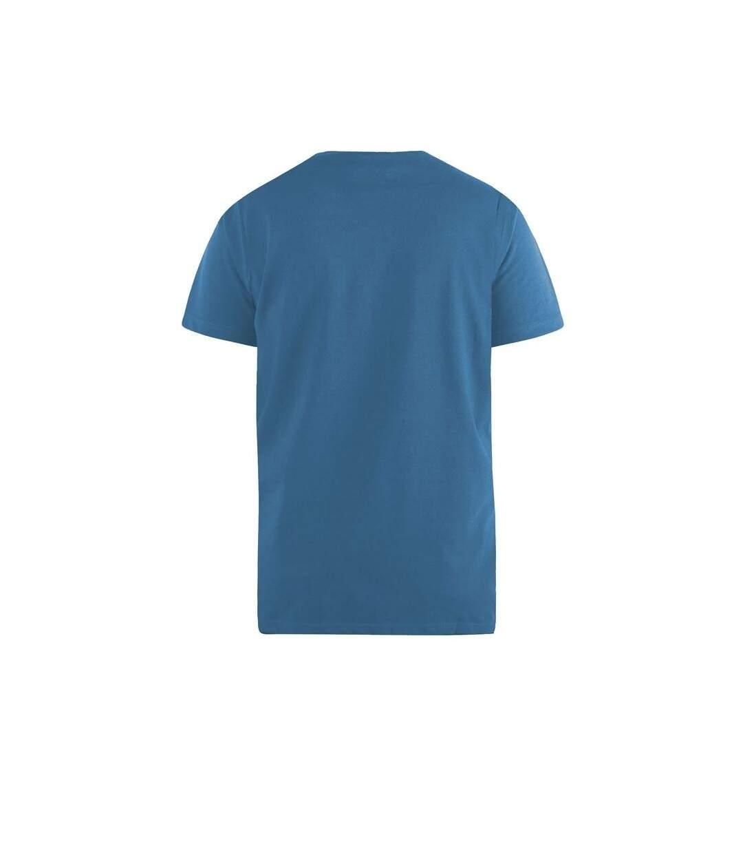 Duke Mens Signature-2 V-Neck T-Shirt (Teal) - UTDC167