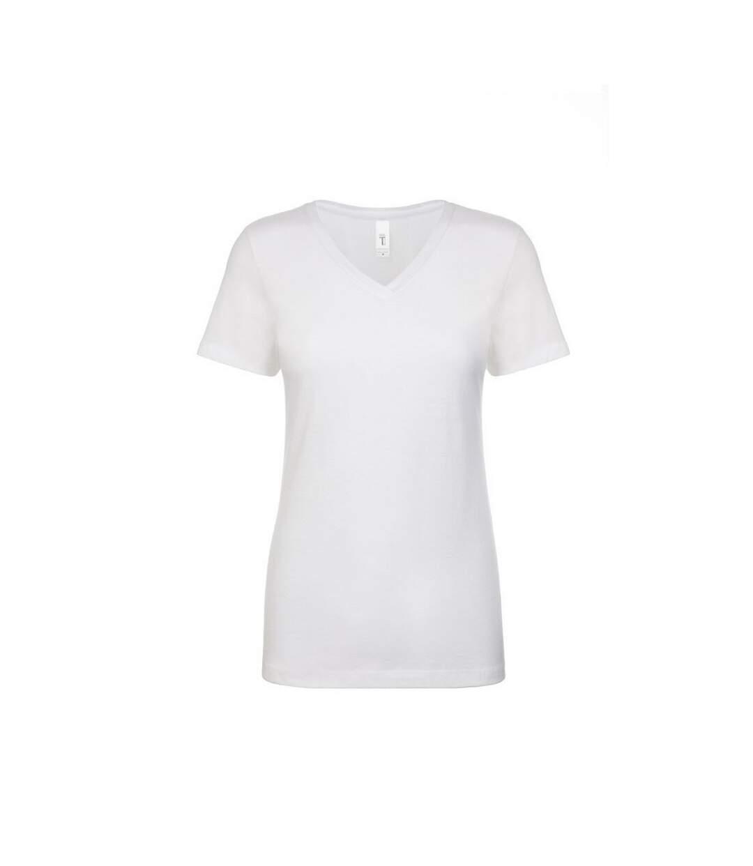 Next Level - T-Shirt À Col V - Femme (Blanc) - UTPC3493