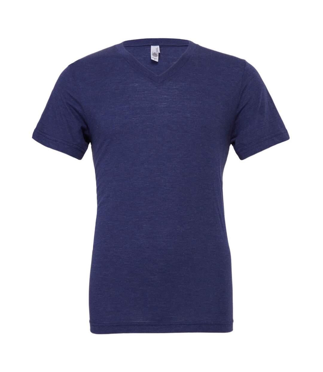 Canvas Mens Triblend V-Neck Short Sleeve T-Shirt (Navy Triblend) - UTBC1333