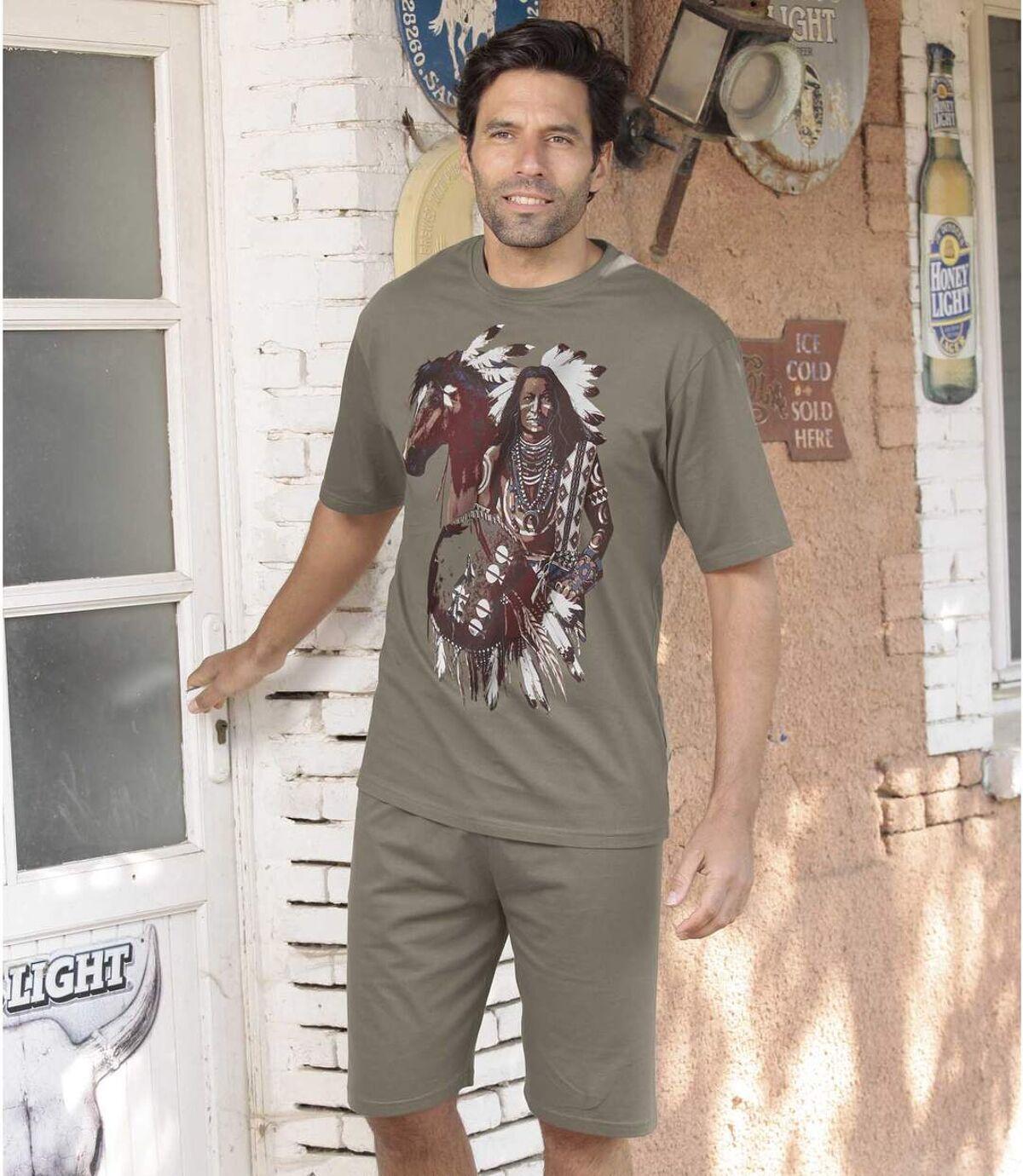 Kurzer Schlafanzug Indian Spirit Atlas For Men
