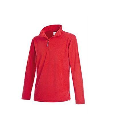Stedman Mens Active Half Zip Fleece (Scarlet Red) - UTAB291
