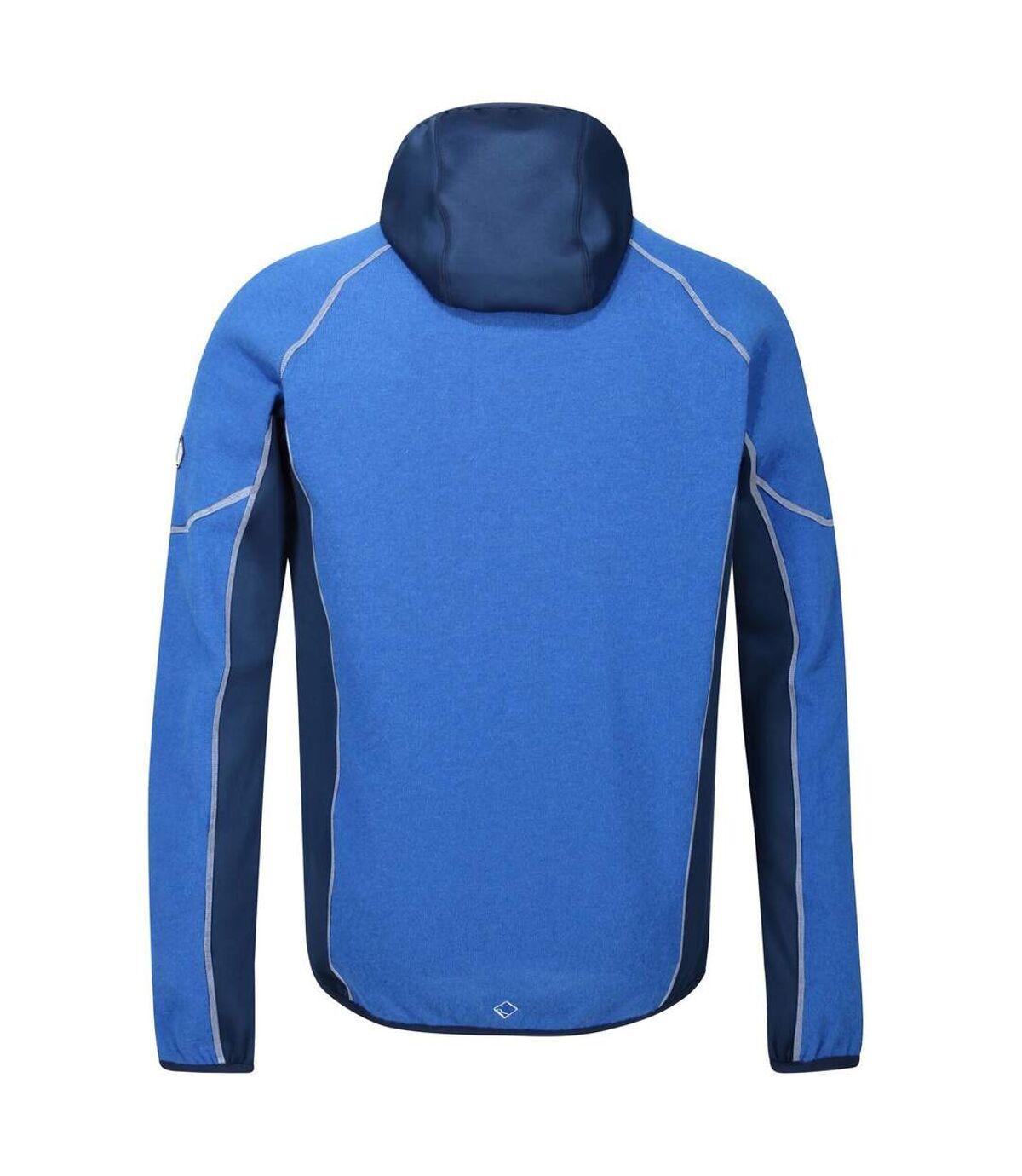 Regatta Mens Kniver Hooded Stretch Fleece (Oxford/Prussian Blue) - UTRG4627