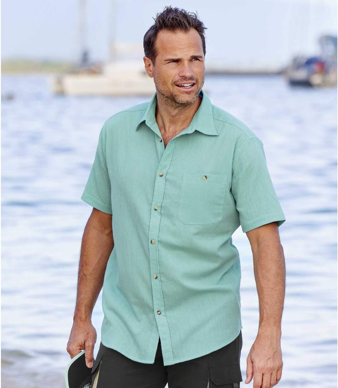 Zestaw 2 gofrowanych koszul z kreponu Atlas For Men
