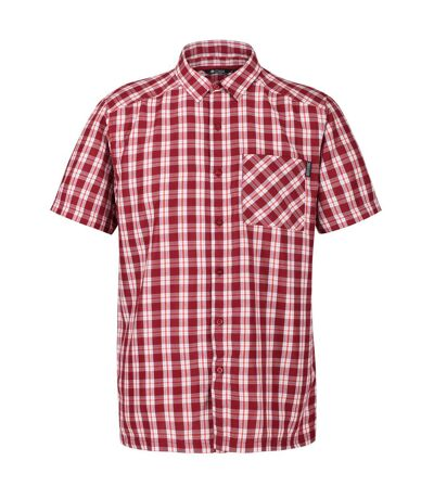 Regatta Mens Mindano V Short Sleeved Checked Shirt (Delhi Red) - UTRG4958