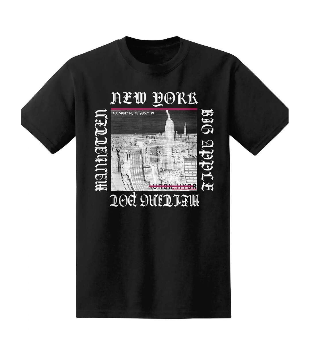The T-Shirt Factory - T-shirt moderne New York - Homme (Noir) - UTTF154