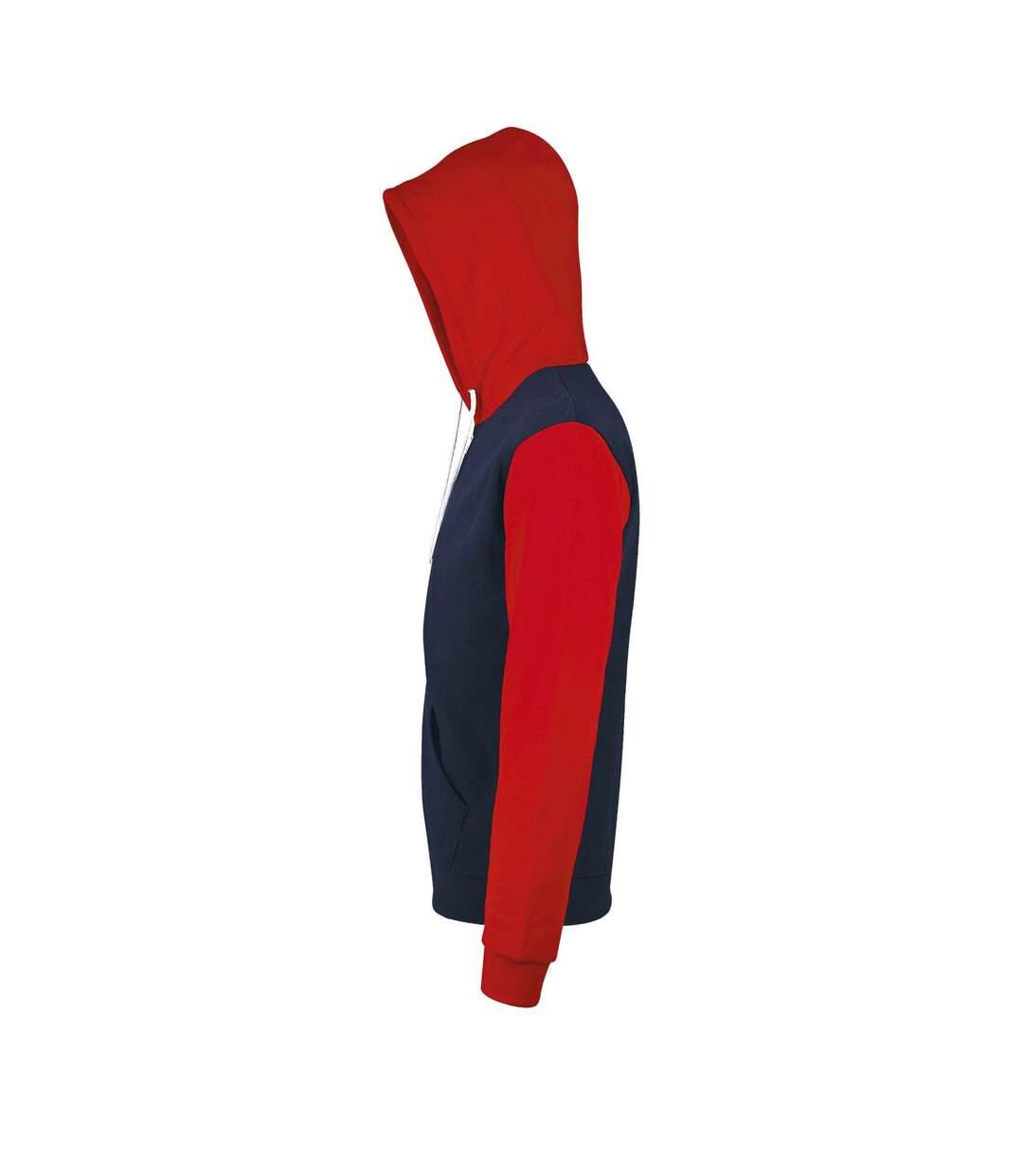 SOLS Silver Unisex Full Zip Hooded Sweatshirt / Hoodie (French Navy) - UTPC342