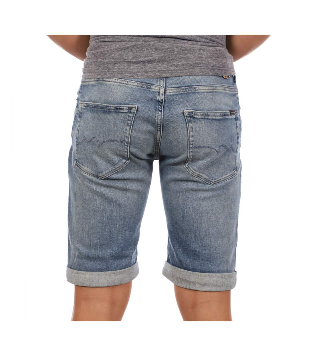 Short en jeans homme bleu Teddy Smith Scott