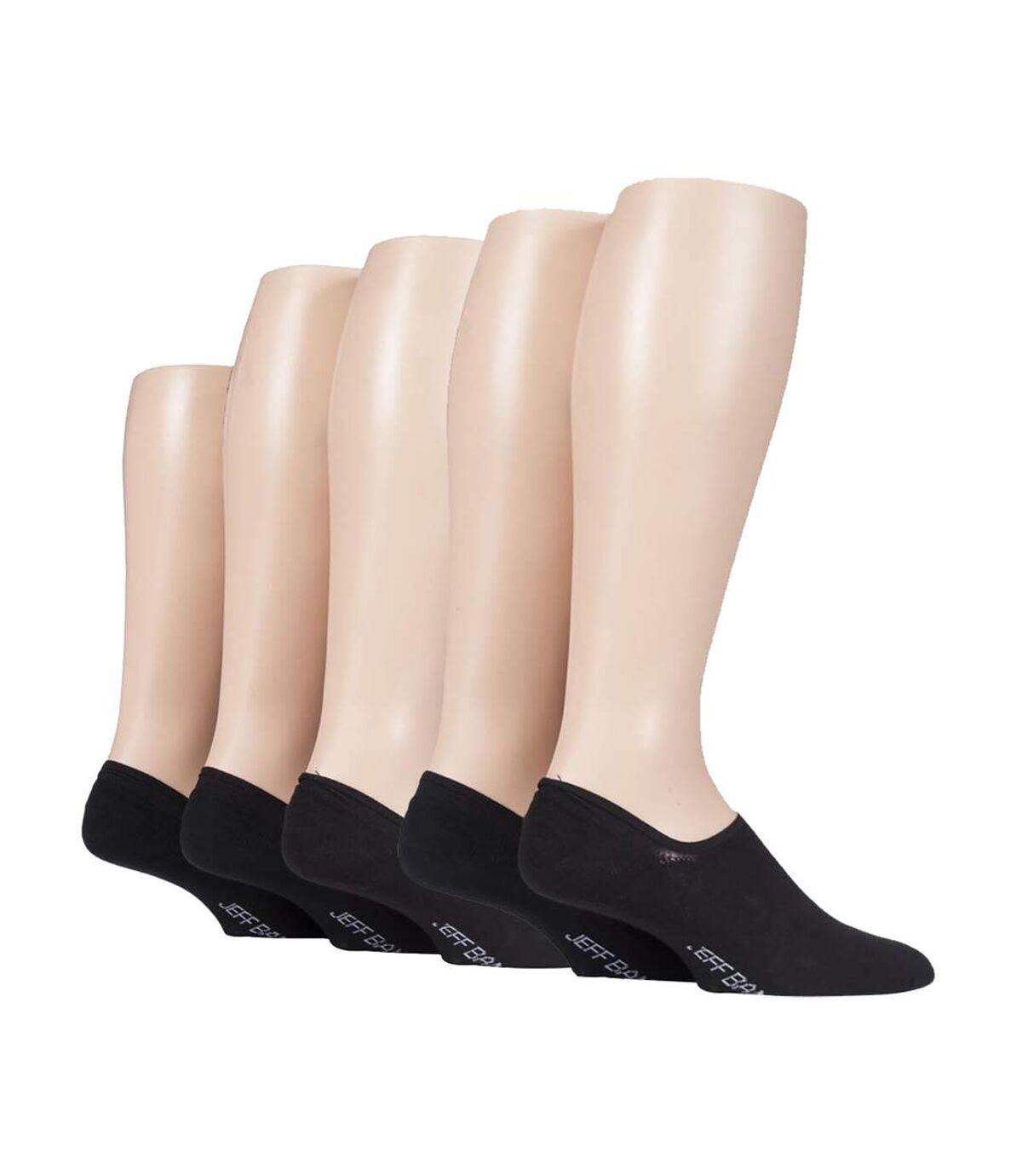 Jeff Banks - 5 Pk Mens Cotton Low Cut Invisbile Socks