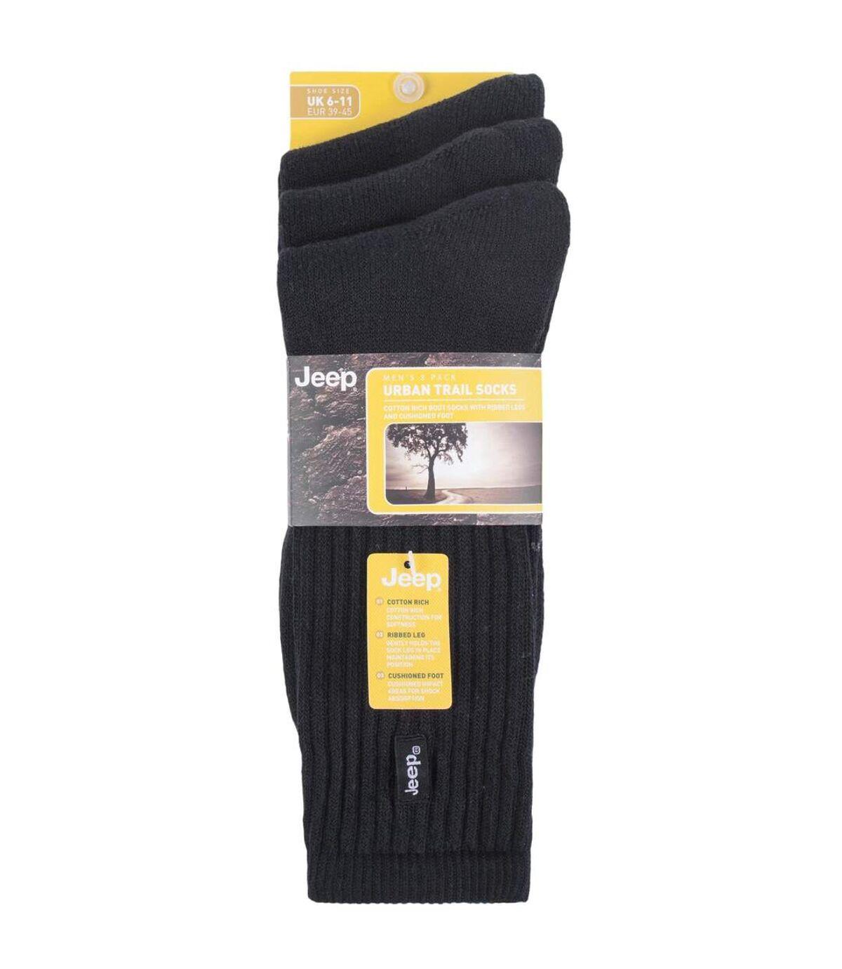JEEP - 3 Pk Mens Vintage Cotton Cushioned Socks