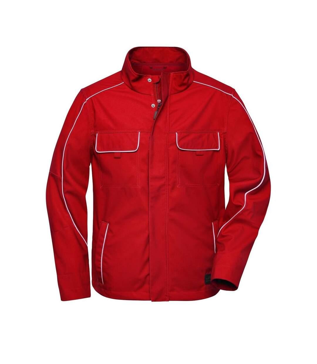 Veste de travail légere softshell - JN882 - rouge