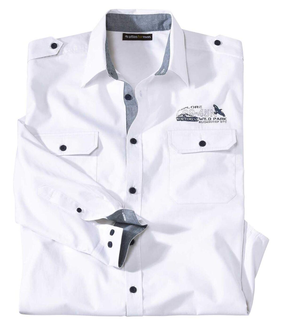 Biała popelinowa koszula Explorer Atlas For Men