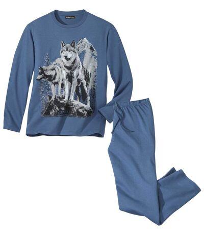 Men's Wolf Print Pajamas