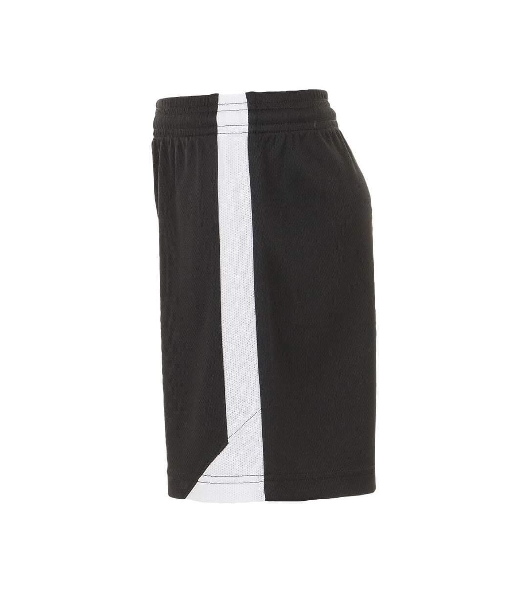 SOLS Mens Olimpico Football Shorts (Black/White) - UTPC2788