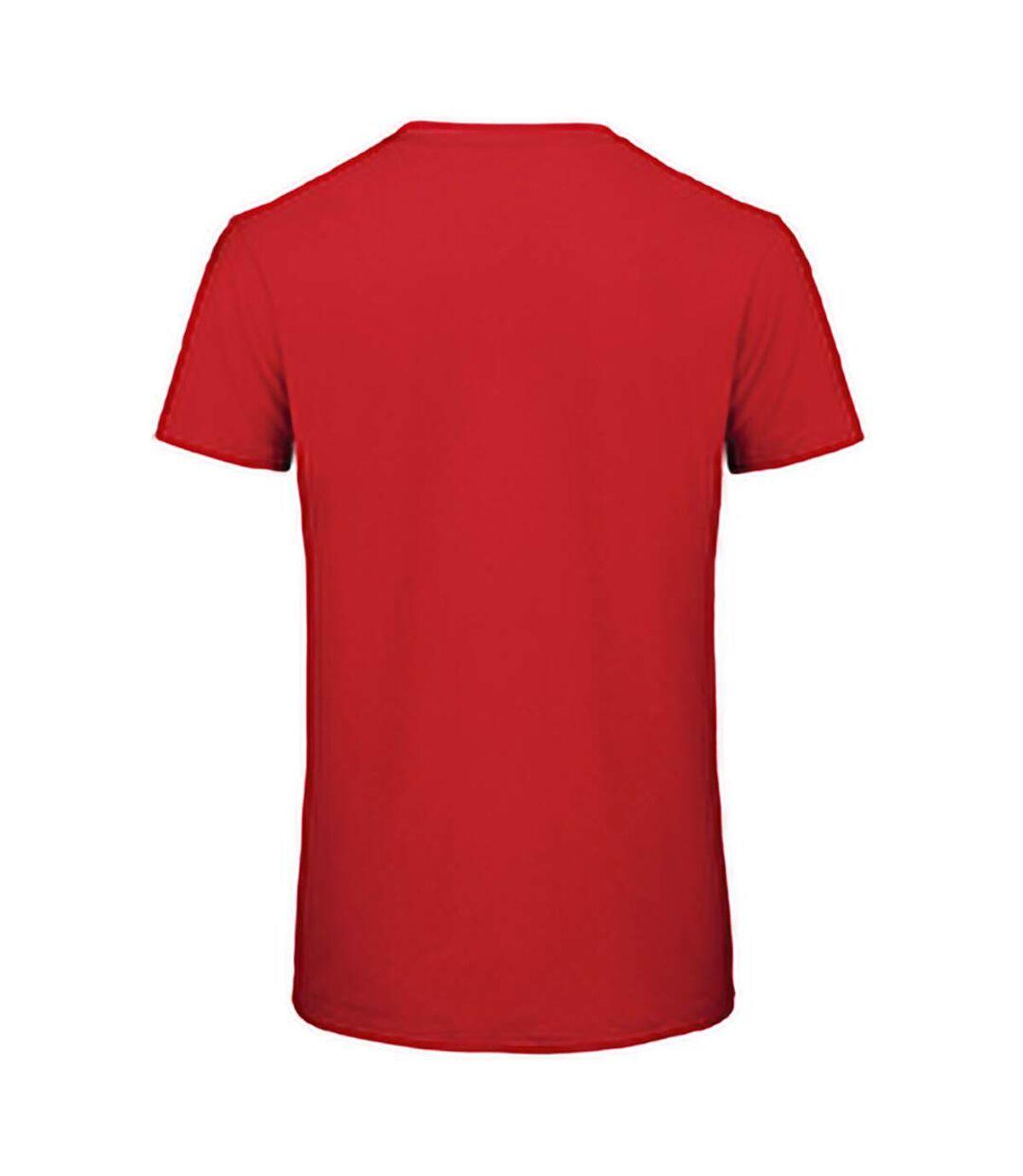 B&C Mens Favourite Organic Cotton Crew T-Shirt (Red) - UTBC3635