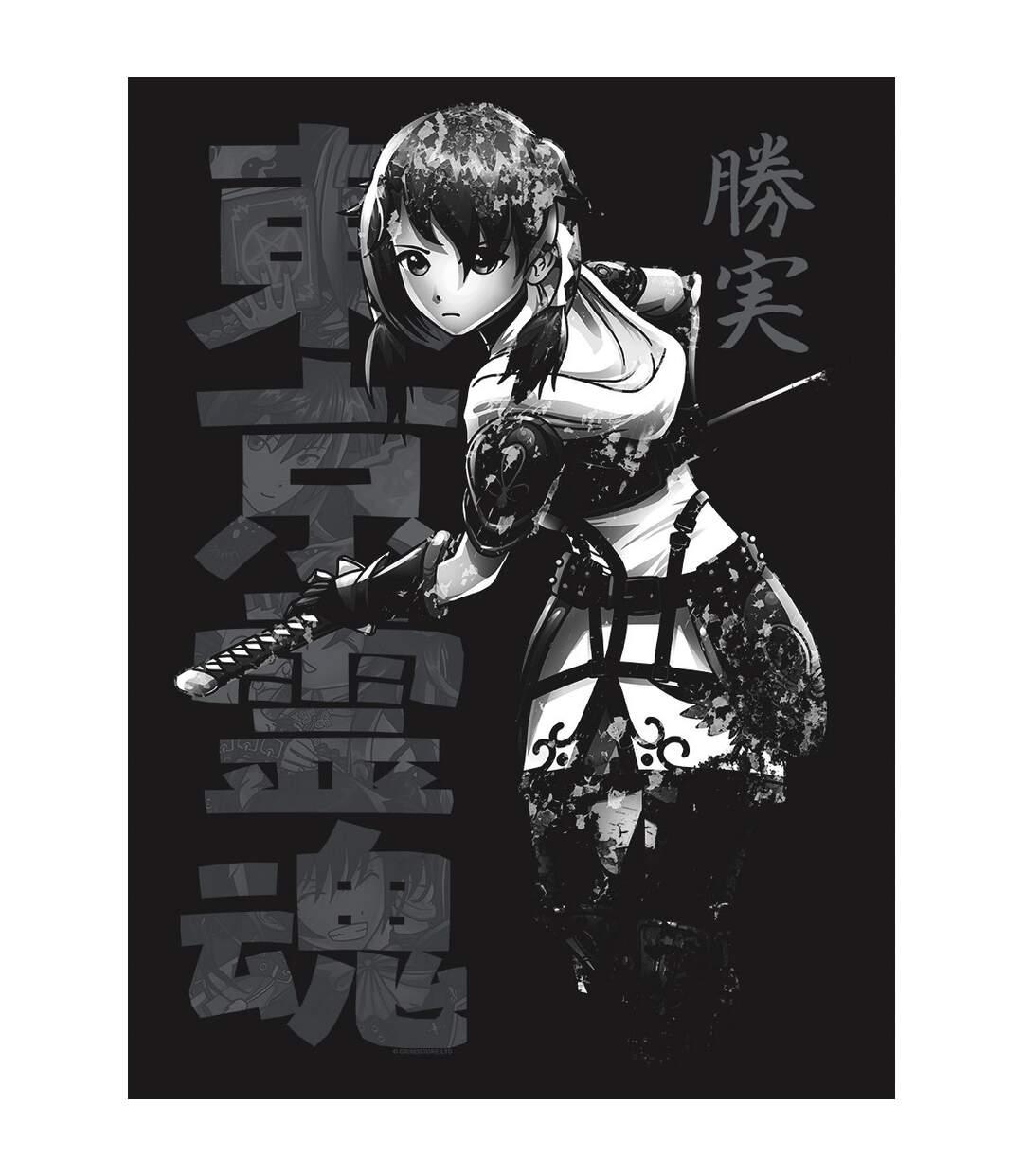 Tokyo Spirit Mens Katsumi Monochrome T-Shirt (Black) - UTGR4120