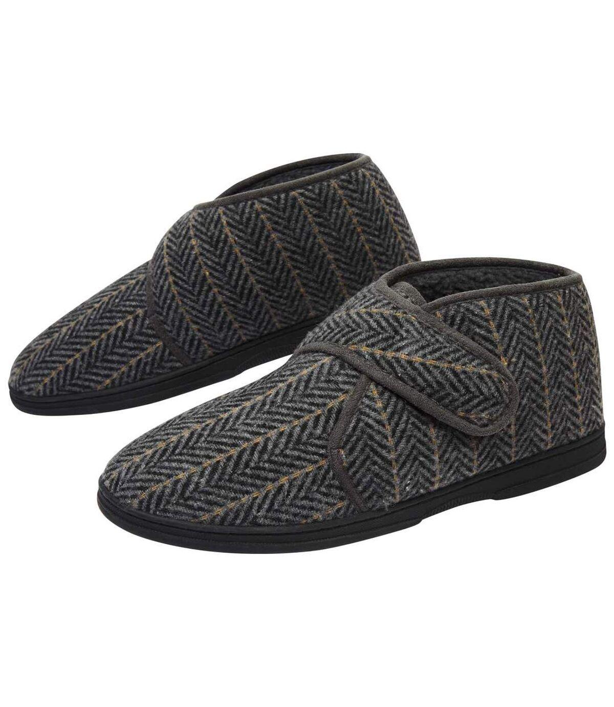 Zateplené papuče na suchý zips Atlas For Men