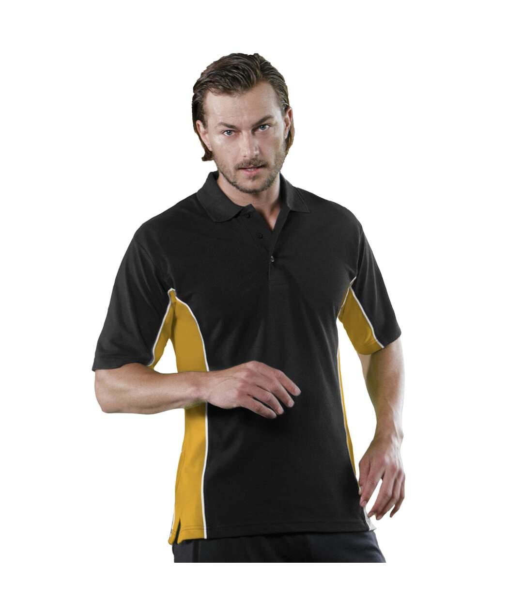 Gamegear® Mens Track Pique Short Sleeve Polo Shirt Top (Navy/ Turqoise) - UTBC412