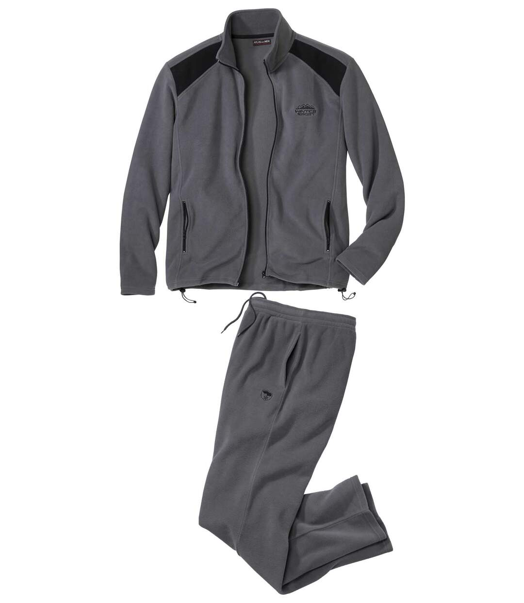 Men's Grey Fleece Tracksuit  Atlas For Men