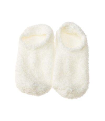 Chaussette Invisibles - 1 paire - Sans couture - Anti dérapante - Sans bouclette - Ecru - Homesocks
