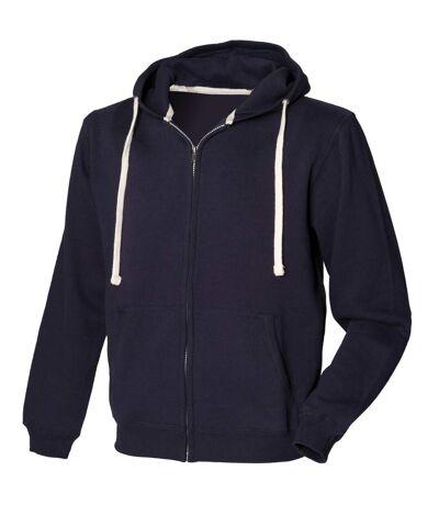 Front Row Mens Zip Through Hooded Sweatshirt / Hoodie (Heather Grey) - UTRW506