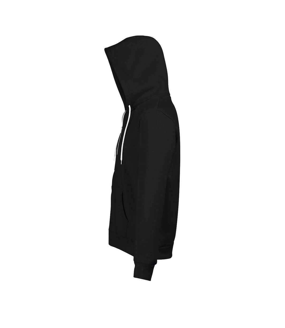 SOLS Silver Unisex Full Zip Hooded Sweatshirt / Hoodie (Black) - UTPC342