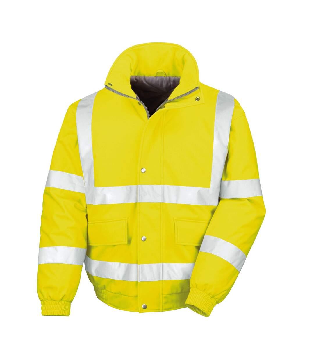 Result Mens Reflective Safety Padded Softshell Blouson Jacket (Yellow) - UTRW4849