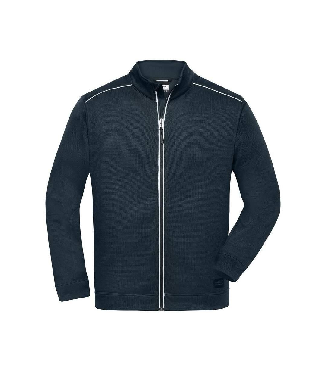 Veste zippée polaire workwear - homme - JN898 - bleu marine