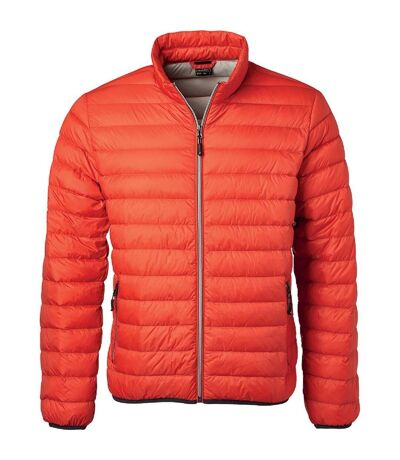Veste doudoune matelassée duvet - JN1140 - orange - Homme