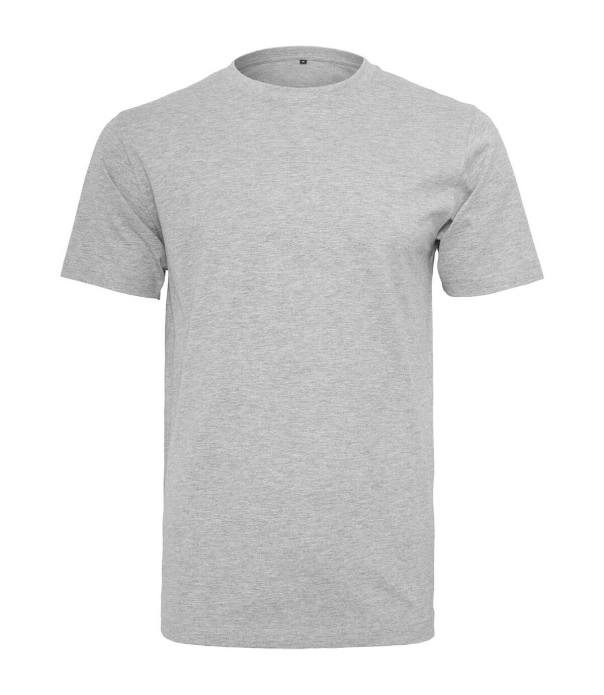 Build Your Brand Mens T-Shirt Round Neck (Heather Grey) - UTRW5815