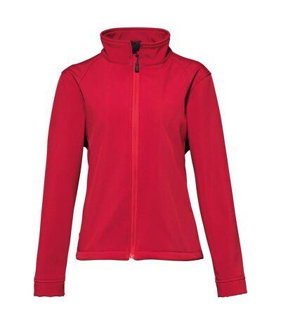2786 Womens/Ladies 3 Layer Softshell Performance Jacket (Wind & Water Resistant) (Red) - UTRW2503