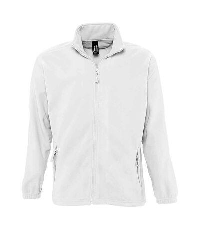 SOLS Mens North Full Zip Outdoor Fleece Jacket (White) - UTPC343