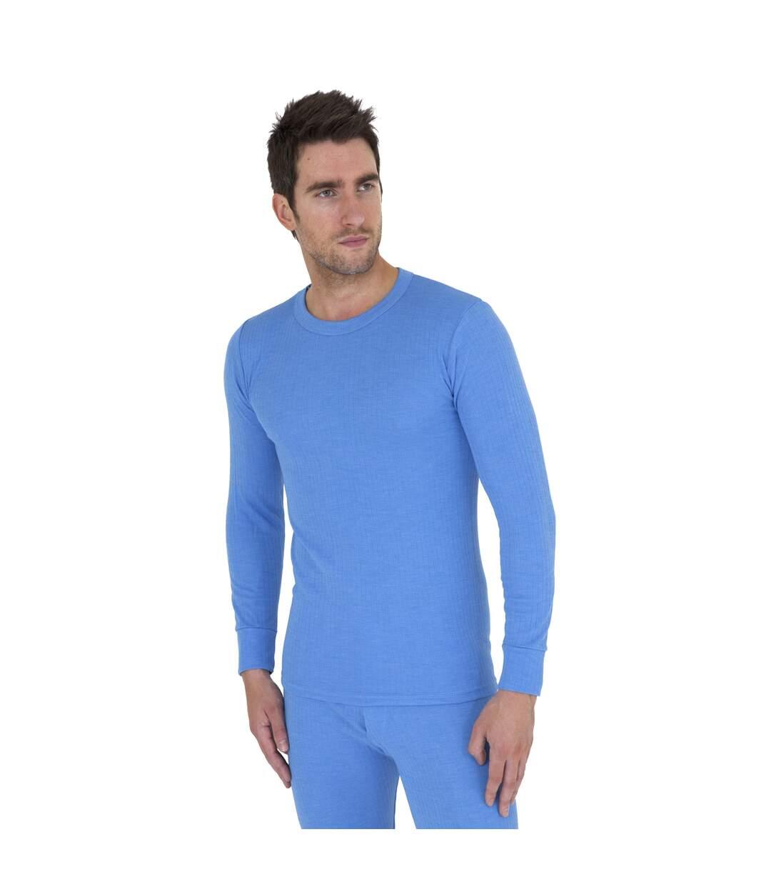 T-shirt thermique à manches longues - Homme (Bleu) - UTTHERM12
