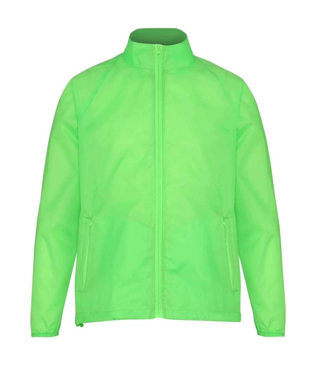 2786 Unisex Lightweight Plain Wind & Shower Resistant Jacket (Lime) - UTRW2500
