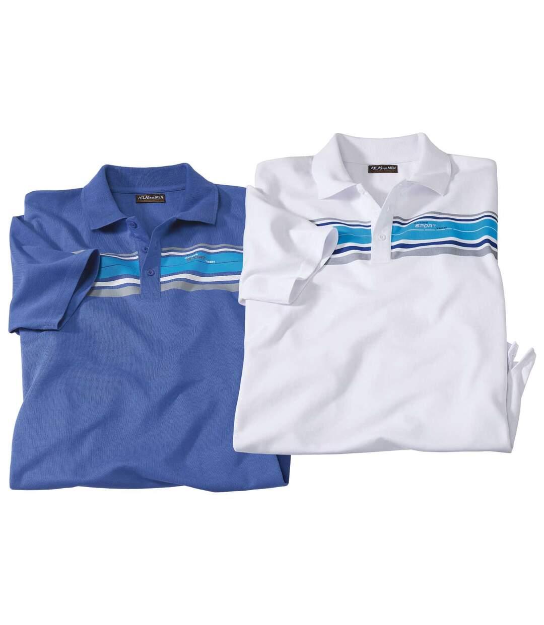 2er-Pack gestreifte Poloshirts
