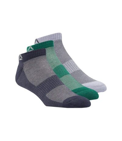 Chaussettes x3 gris/vert/marine homme Reebok Active Foundation