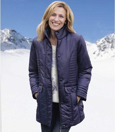 Women's Blue Puffer Jacket